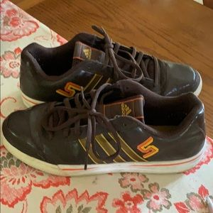 Size 12, adidas superstar NBA3 Brown /Gold